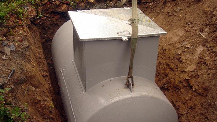 Cuve à mazout enterrée